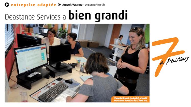 Article 7 à Poitiers Deastance Services juillet 2018