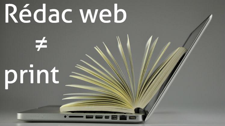 Rédaction web et rédaction print, différence