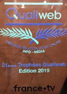 qualiweb - trophée 2019 info media