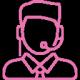 logo de couleur rose