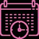 logo de couleur rose gestion des salles de réunion